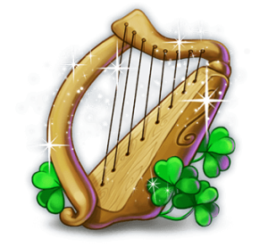 golden_shamrock_symbol_harp