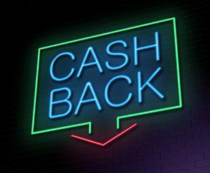 Cashback bonus sign